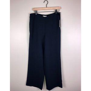NWT Adrienne Vittadini Navy Wide Leg Pants Size 8